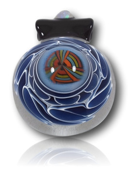 Keshav Glass - Dot Stack Twist w/Opal Pendant.  https://www.instagram.com/keshavglass/