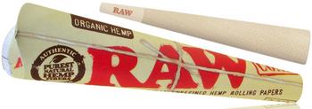 RAW ORGANIC 1 1/4 CONE 6PK