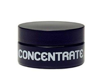 Medium Size UV 'Concentrate' Glass Jar. Screw on lid.