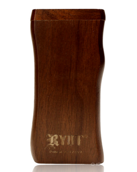 RYOT LARGE WALNUT WOOD  DUGOUT w POKER & CIG BAT