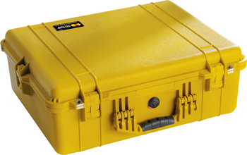 "PELICAN CASE 1600 YELLOW - 24.25"" X 19.43"" X 8.68"""