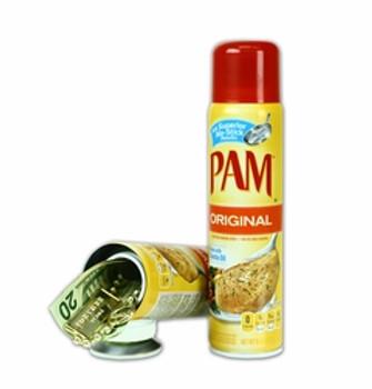 Pam Original Spray , Stash Container. Plastic, Air tight container inside.