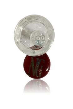 NICE GLASS AMBER 19MM HONEYCOMB BOWL