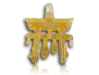 Matt Bain (Know_Ego) Glass - Golden Drip Torii Gate Pendant.  https://www.instagram.com/know_ego/