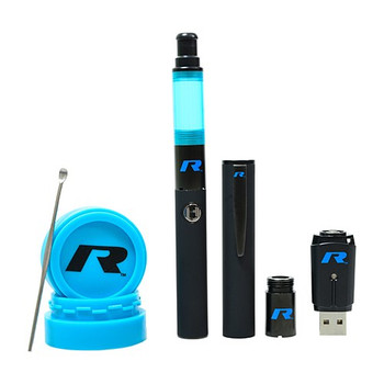 Stok Roil Vaporizer Pen. Kit includes extra atomizer, silicone container and charger.