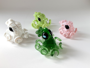 Vigilant Glass - Octopus Pendants! Legs form the bale!