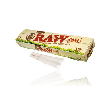RAW ORGANIC 1 1/4 PRE ROLLED CONES 32 Pack
