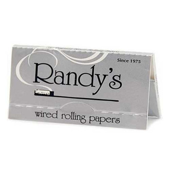 Randy's Wired 1 1/4 Silver Papers. No roach clip? No problem!
