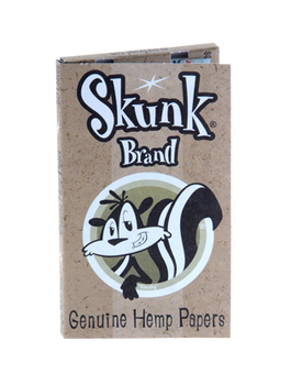 Skunk Brand Single Wide Rolling Papers. Natural Hemp Rolling papers, plus Skunky!