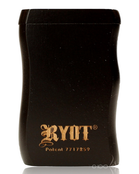 RYOT SMALL BLACK WOOD DUGOUT w POKER & CIG BAT