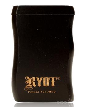 RYOT SMALL BLACK WOOD DUGOUT w POKER & CIG BAT