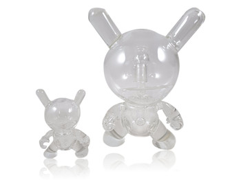 """6"""" Tall Clear Glass Dunny Set. Rig and Pendant."""