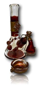 KUHNS / GLASS MUNKY BLOOD DIAMOND BEAKER W SWING