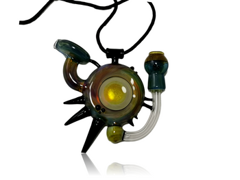 ANNEALED INNOVATIONS - OILSLICK CLEAR DISC W BLACK SPIKE PENDY RIG