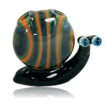 BROSKI GLASS SML COLORED SNAIL PENDANT