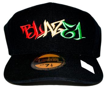 BLAZE1 7 1/4 PRO-FIT BLACK W/ RASTA CAP