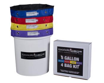 Boldtbags 5 Gallon - 4 Bag Kit.