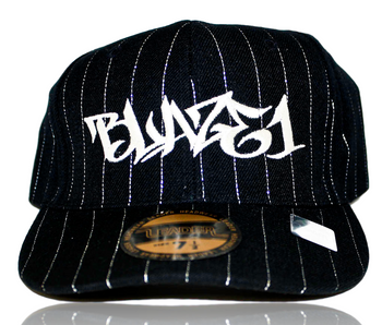 BLAZE1 7 5/8 PRO-FIT BLACK PIN-STRIPE CAP