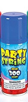 Party String Stash Container. Plastic, Air Tight Container Inside.