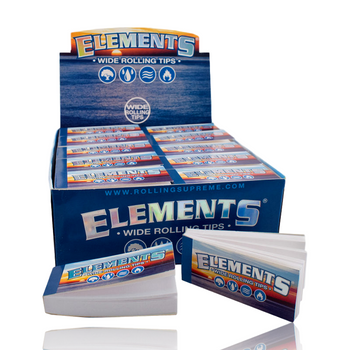 ELEMENTS TIPS WIDE - CHLORINE & CHEMICAL FREE 50/BOX