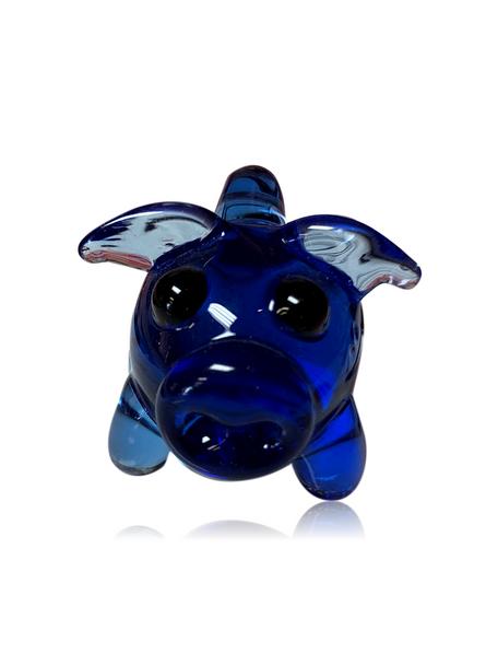 VIGILANT GLASS PIG PENDANT