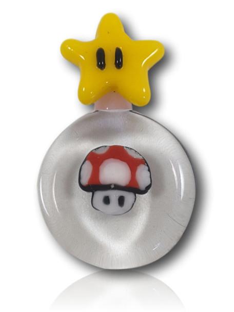 Notorious Glassworks - Super Mario Mushroom/Star Pendant.