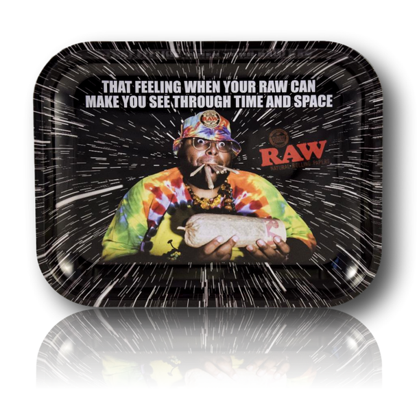 Raw Rolling Tray 'Oops' Design. Large Size.