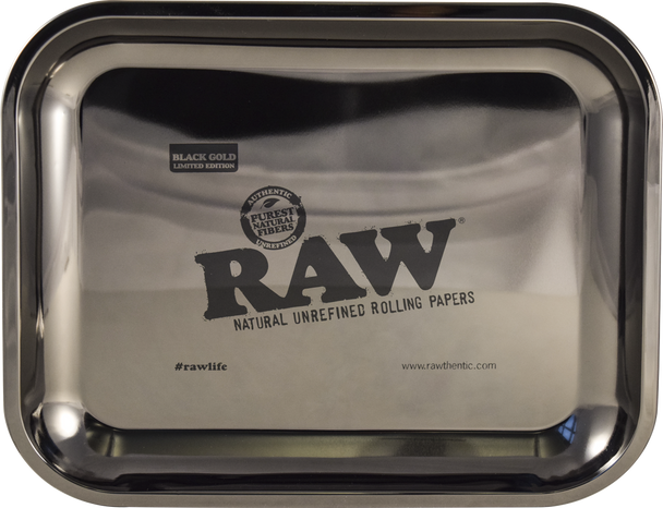 Raw Black Gold 24k Gold Rolling Tray! ULTRA LIMITED EDITION. Regular 24k Gold not baller enough? Now you have the Rawlife24/7 Black Gold Rolling Tray!