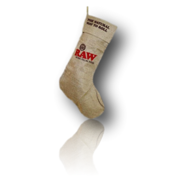 The RAW Linen Christmas Stocking! Now you can pack your heady gifts into something heady!
