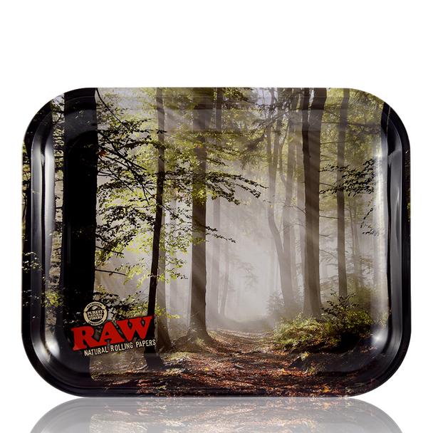 RAW SMOKEY TREES ROLLING TRAY LARGE 34cm x 27.5cm x 3cm