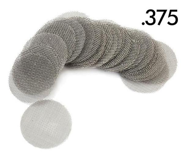 6 PACK .375 STAINLESS STEEL SCREENS