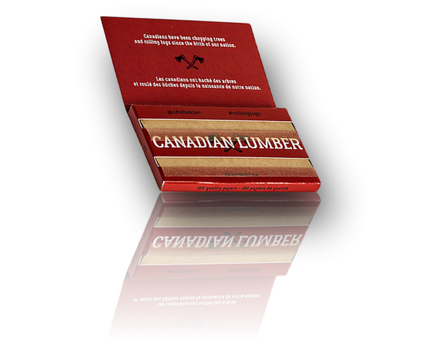 Canadian Lumber 'Woods' Rolling Papers. Regular Size, Double Window.