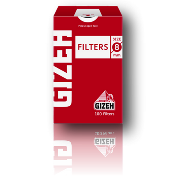 Gizeh Pre-Rolled Filters - 8mm Size.