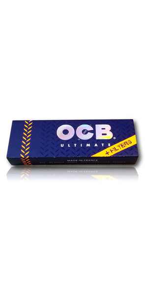 OCB Ultimate - 1 1/4 Size Rolling Papers. w/Tips. The thinnest rolling papers on the market.