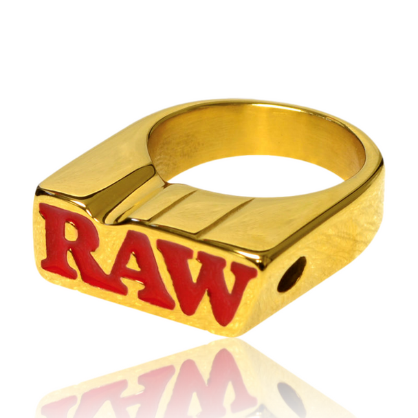 RAW BRAND SMOKING RING - SIZE 7