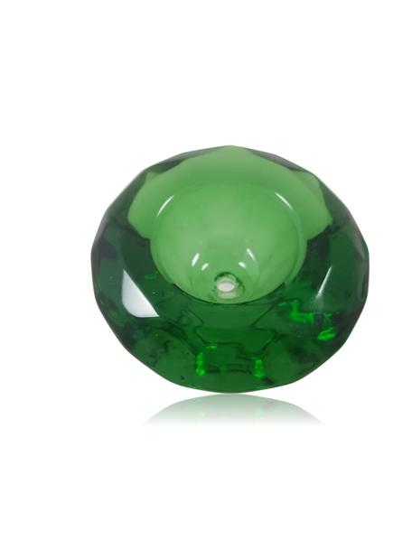 DIAMOND SHAPED GLASS HERB BOWL