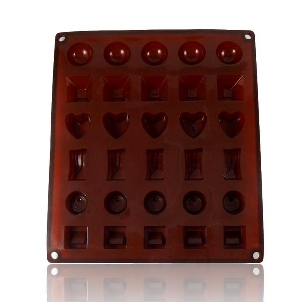 DOPE MOLDS 30 X CLASSIC CHOCOLATES SILICONE MOLD