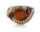 Dylan Wallace - Orange Gem Wire Wrapped Ring.