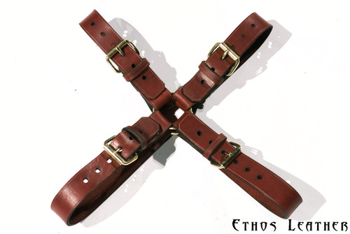 Brown Latigo Leather and Brass Hardware