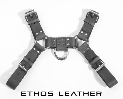 Gray Crazy Horse Leather
