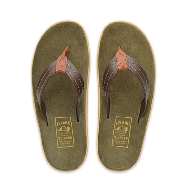 dc934009244ca Made in Hawaii USA | Men's Leather + Suede Thong Sandals