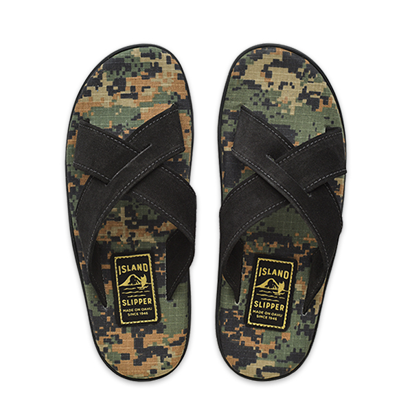 Slide Camouflage Ripstop Black