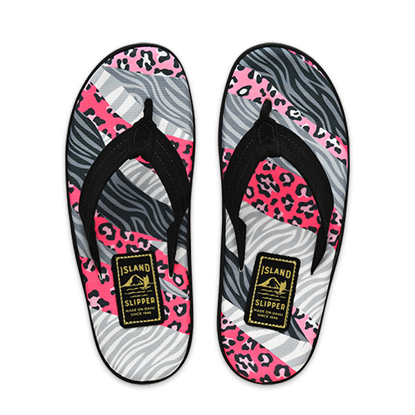 SPF Pink Animal Stripes/Black