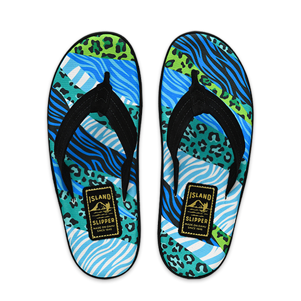 SPF Blue Animal Stripes/Black