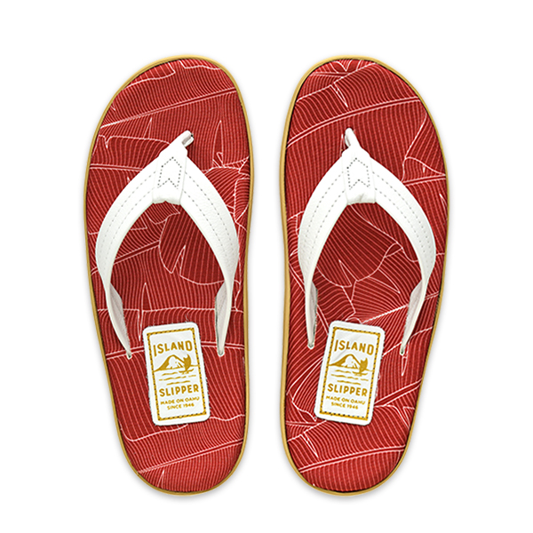 SPF Banana Palm Maroon/White
