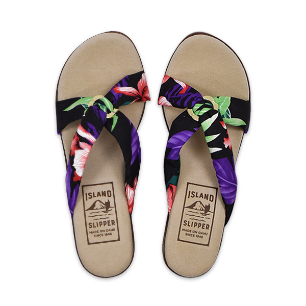 Fabric Tropical Slide with Ring Wedge