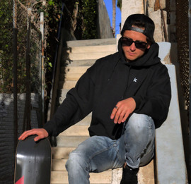 Skate Smart hoodie unisex - black