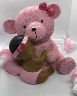 Pink Baby and Teddy Centerpiece
