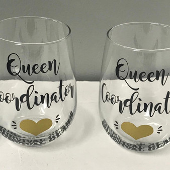 17 oz Personalized Stemless Wine Glass