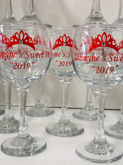 12 oz Personalized Wine glass